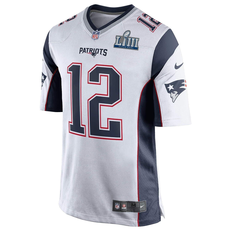 Amazon.com   Nike Men s New England Patriots Tom Brady Super Bowl 53 Bound  Game Jersey c2230a04c