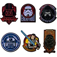 Star Wars Jewelry Unisex Adult Character Pack Pin Set of 6, Multicolor, One Size