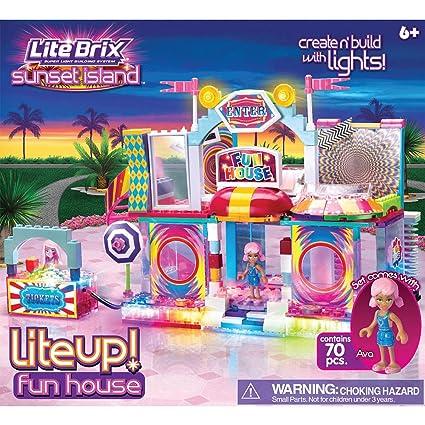 Amazon.com: Cra-Z-Art Lite Brix Lite Up Fun House Building Set: Toys ...