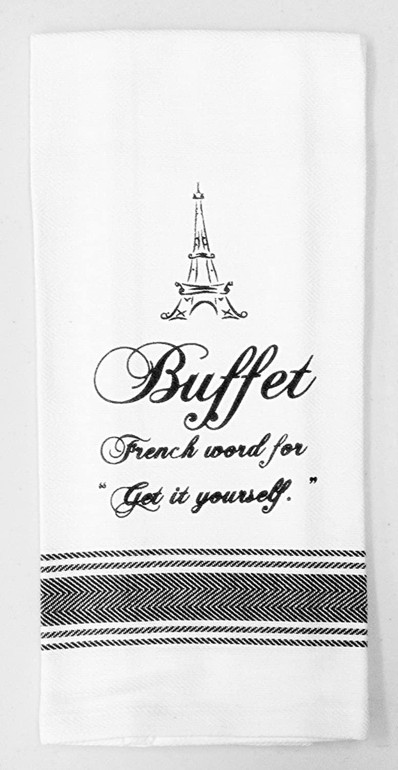 Amazon dish towel buffet french word for get it yourself amazon dish towel buffet french word for get it yourself 100 cotton fun home kitchen solutioingenieria Choice Image