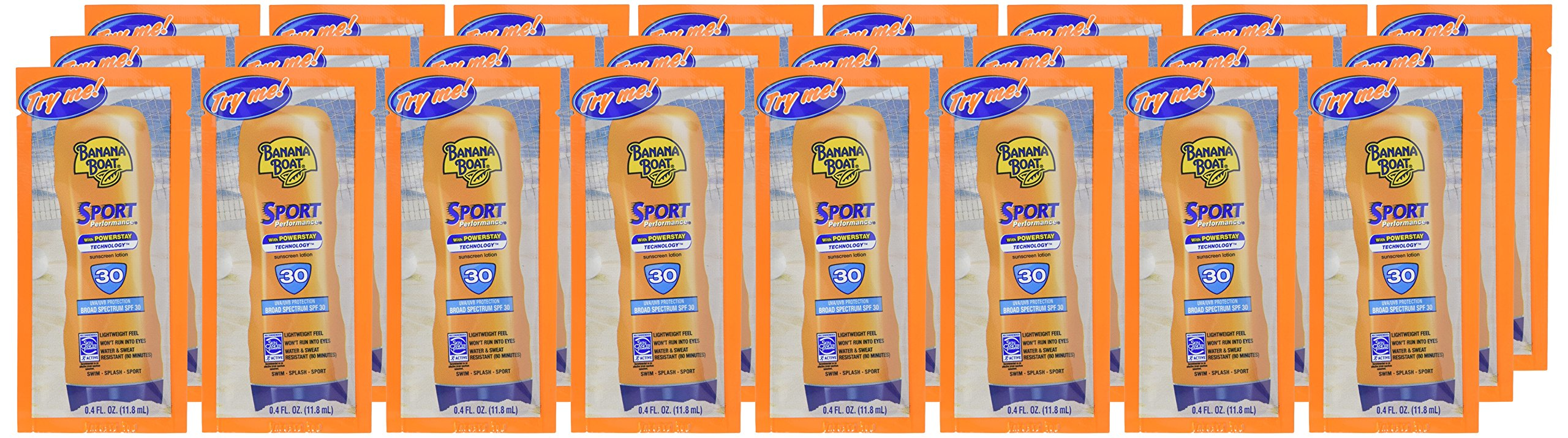 Banana Boat Sport Sunscreen, SPF 30 Protection lotion, Travel Packets 24 Packs by Banana Boat (Image #2)