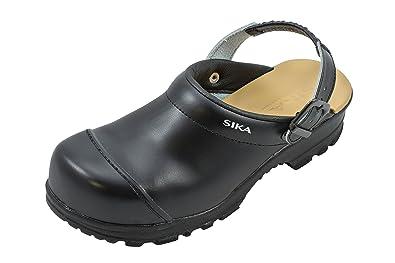 Sika - Chaussures De Protection Homme Noir Noir En Cuir, Couleur Noir, Taille 37