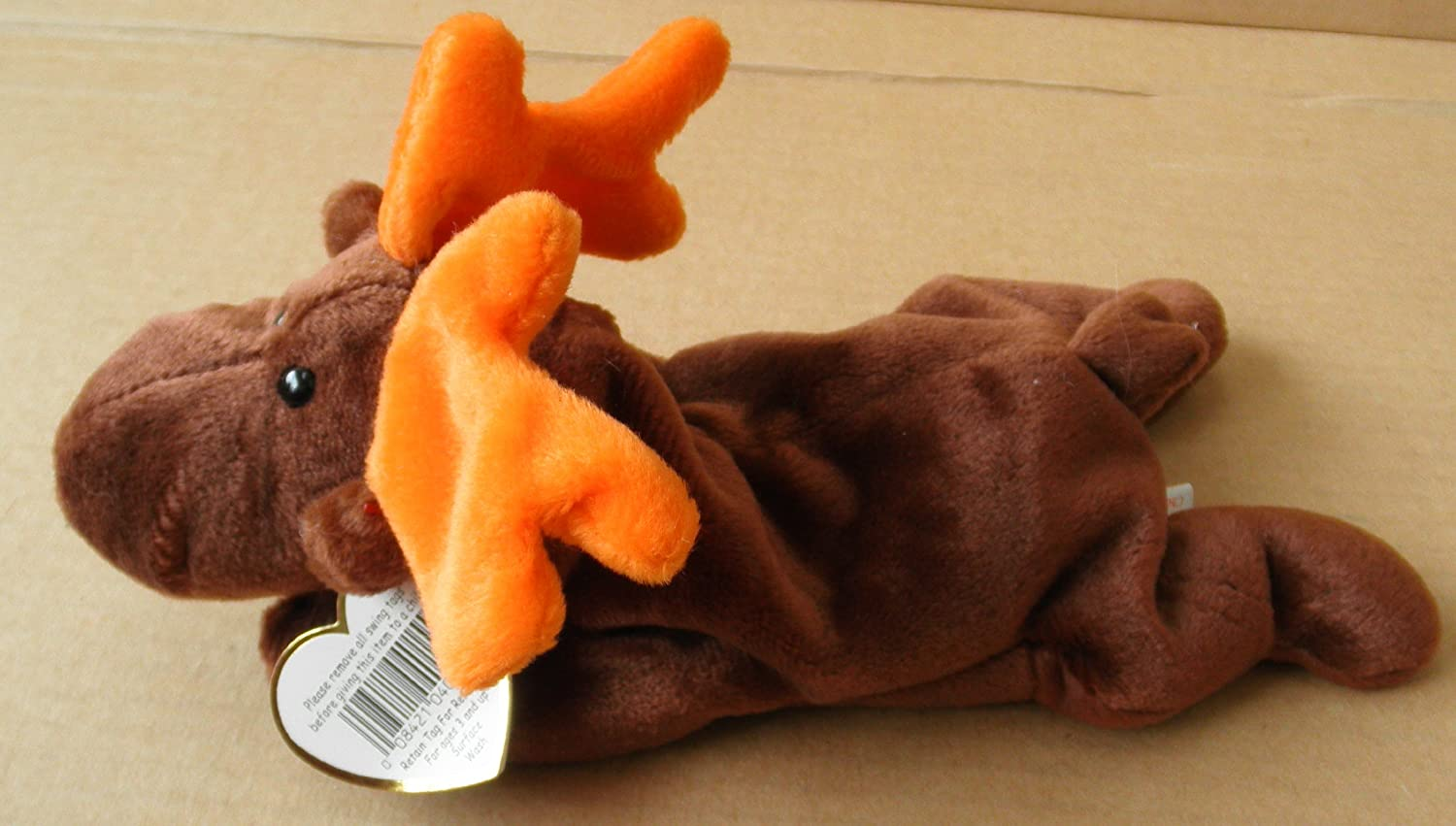 Amazon.com: TY Beanie Babies Chocolate the Moose Stuffed Animal ...