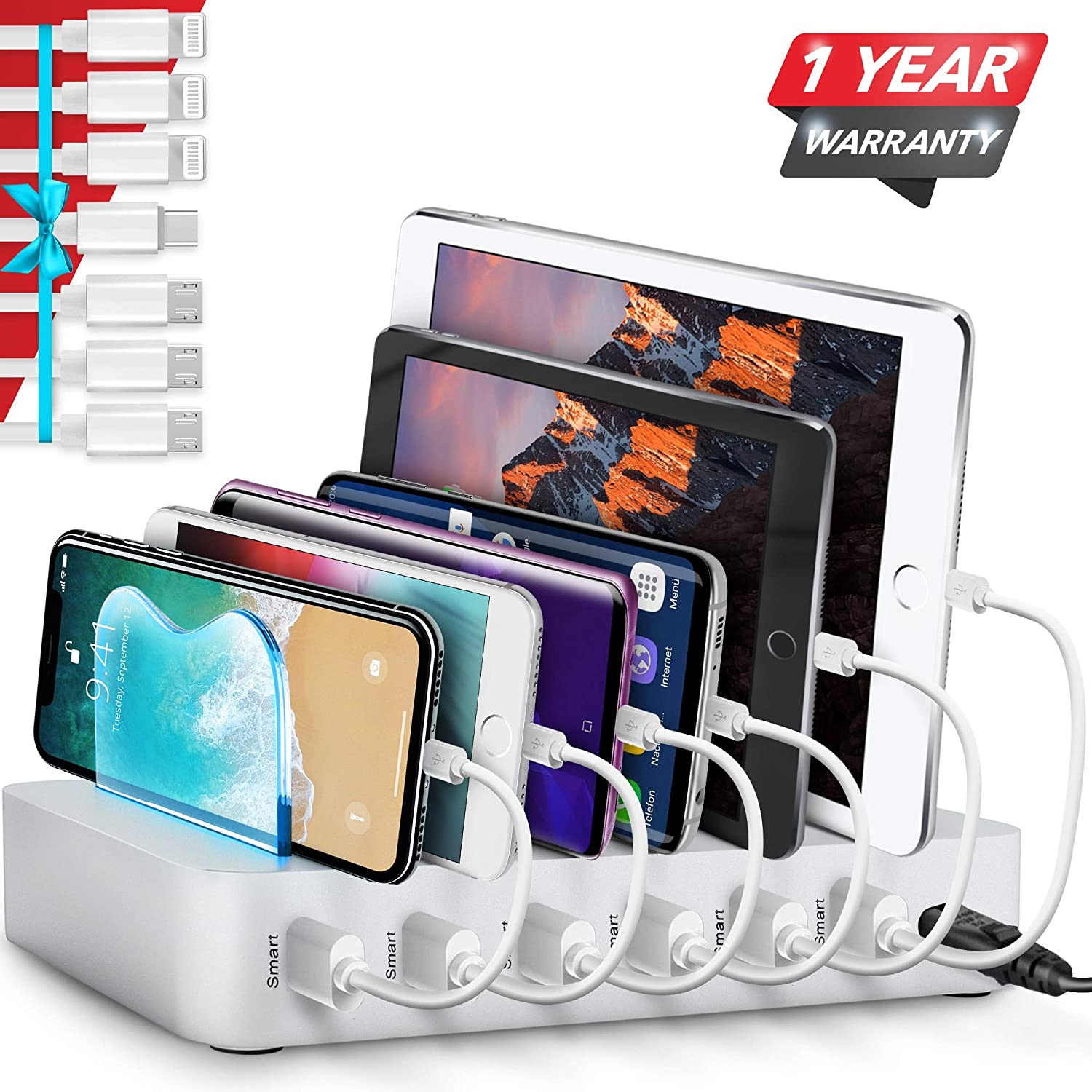 Do you have a friend that always loses their chargers? This organized charging system would be a perfect gift. For more organizing gifts, look here!