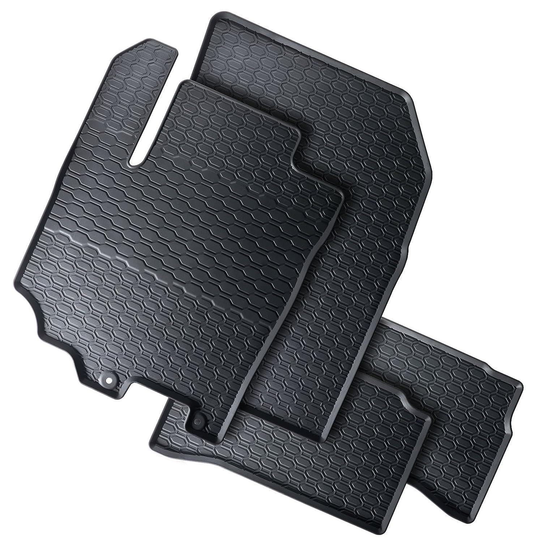 Tapis de sol sur mesure pour 1199188210011 set de 4 tapis de voiture noir
