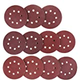110 Pcs 8 Holes Sanding Discs, STARVAST 5 inch Round Hook and Loop Pad Assorted