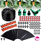 Fixget Drip Irrigation Kit, 100ft/30M Adjustable Garden Automatic Irrigation System Kits with DIY Plant Garden Hose Watering