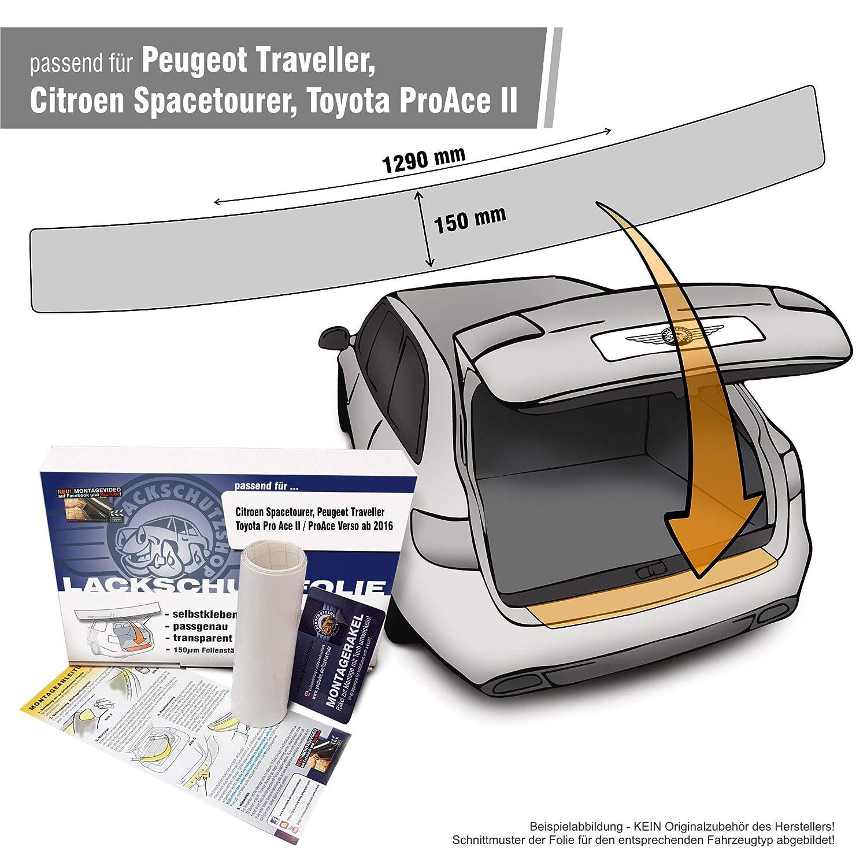 transparent 150/µm f/ür Modell Siehe Beschreibung Autofolie und Schutzfolie Passform Lackschutzfolie als Selbstklebender Ladekantenschutz Lackschutzshop