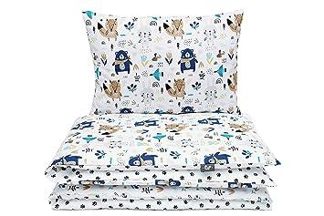 B/ären fur Baby und Kinder Kinderbettw/äsche Set Baby Bettw/äsche Bettbezug 100 x 135 100/% Baumwolle Hergestellt in Europa
