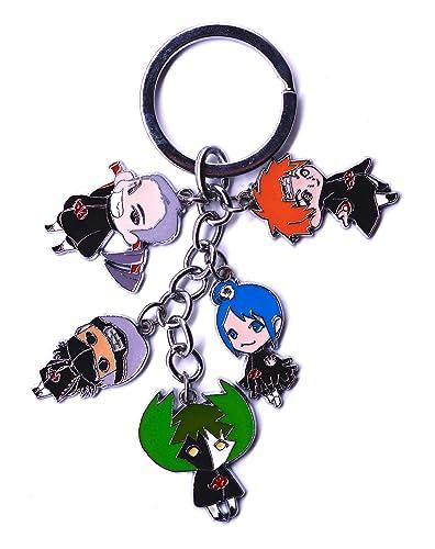 Anime Domain Llavero de Naruto Akatsuki con 5 Figuras Chibi ...
