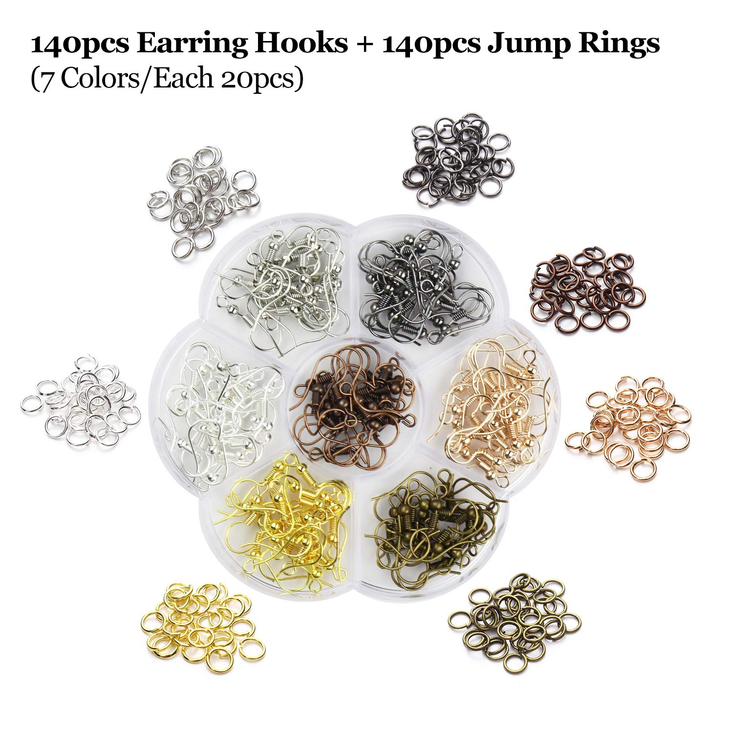 10pcs Metallic Faux Leather Sheets + 10pcs Double Sided Litchi Synthetic Leather Fabric Sheets(6''x 6'') with 140pcs Earring Hooks, 140pcs Jump Rings, Pliers and Cut Molds for Earring Making Crafts by SIMPZIA (Image #5)