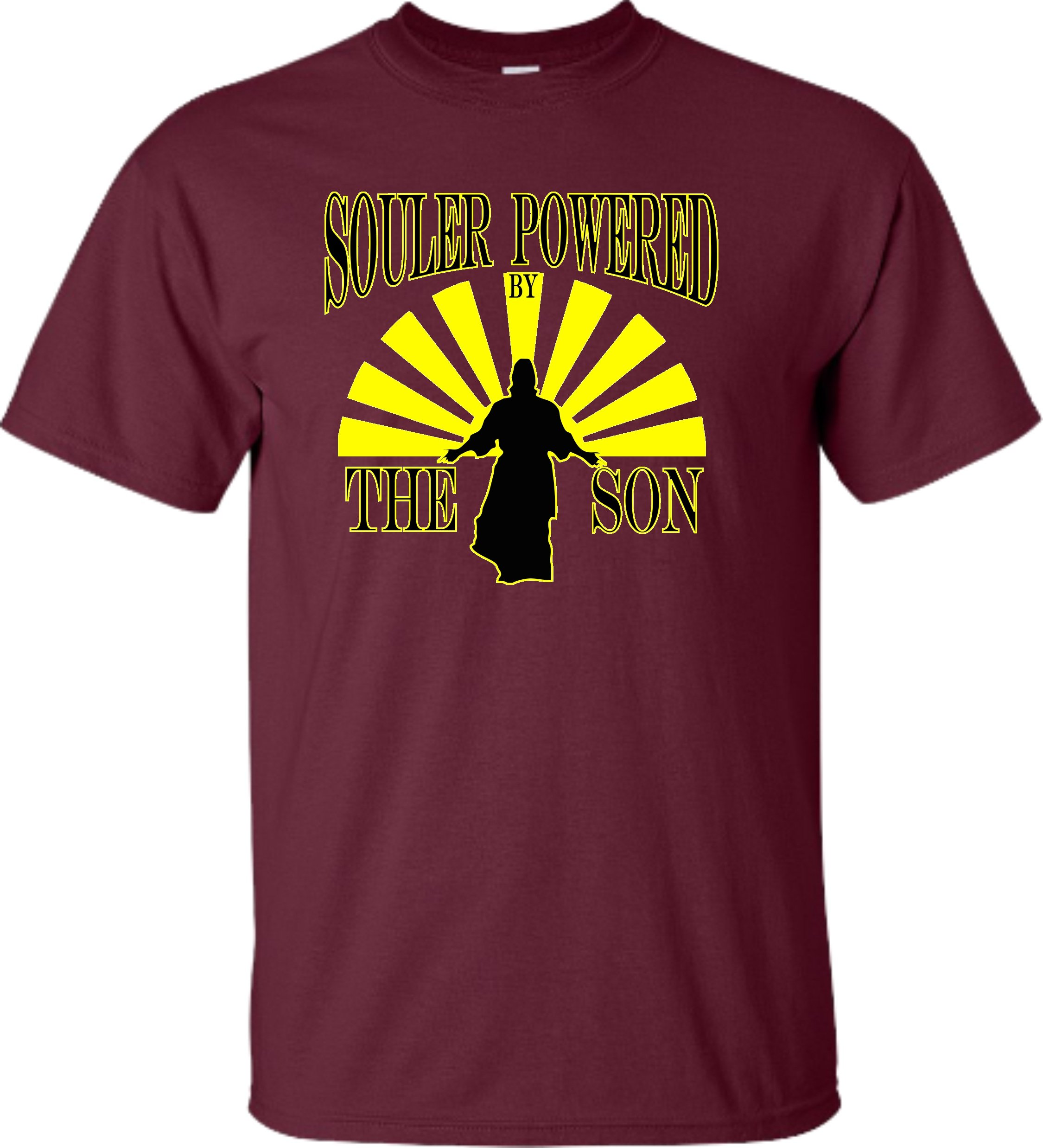 Adult Souler Powe By The Son Funny Christian Jesus T Shirt 2761