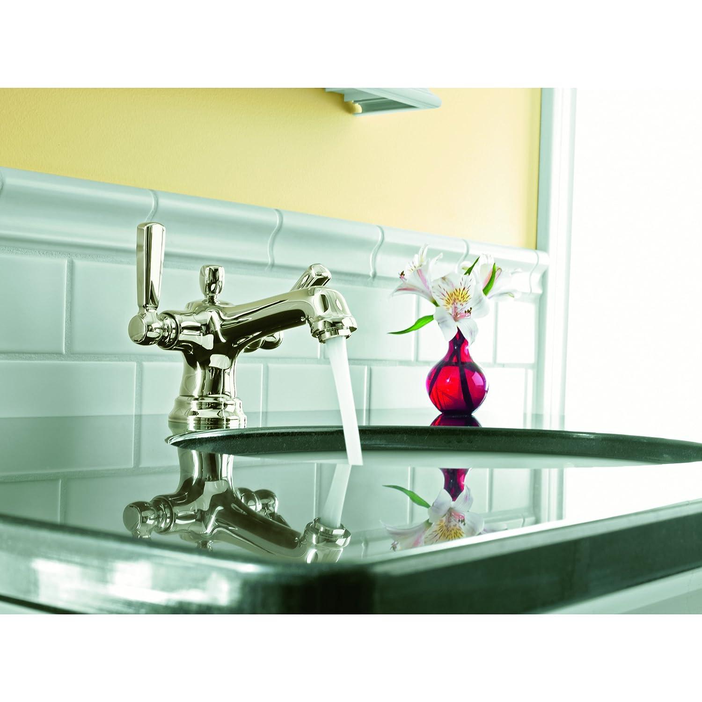 KOHLER K-10579-4-SN Bancroft Monoblock Lavatory Faucet, Vibrant ...
