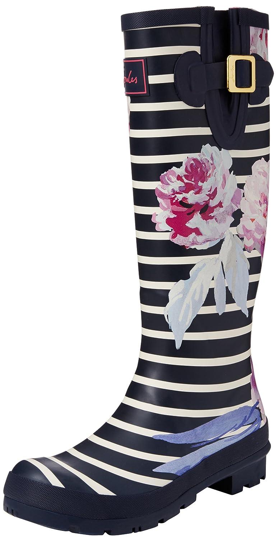 Joules Women's Welly Print Rain Boot B01M3VA1PE 5 B(M) US Navy Bloom Stripe