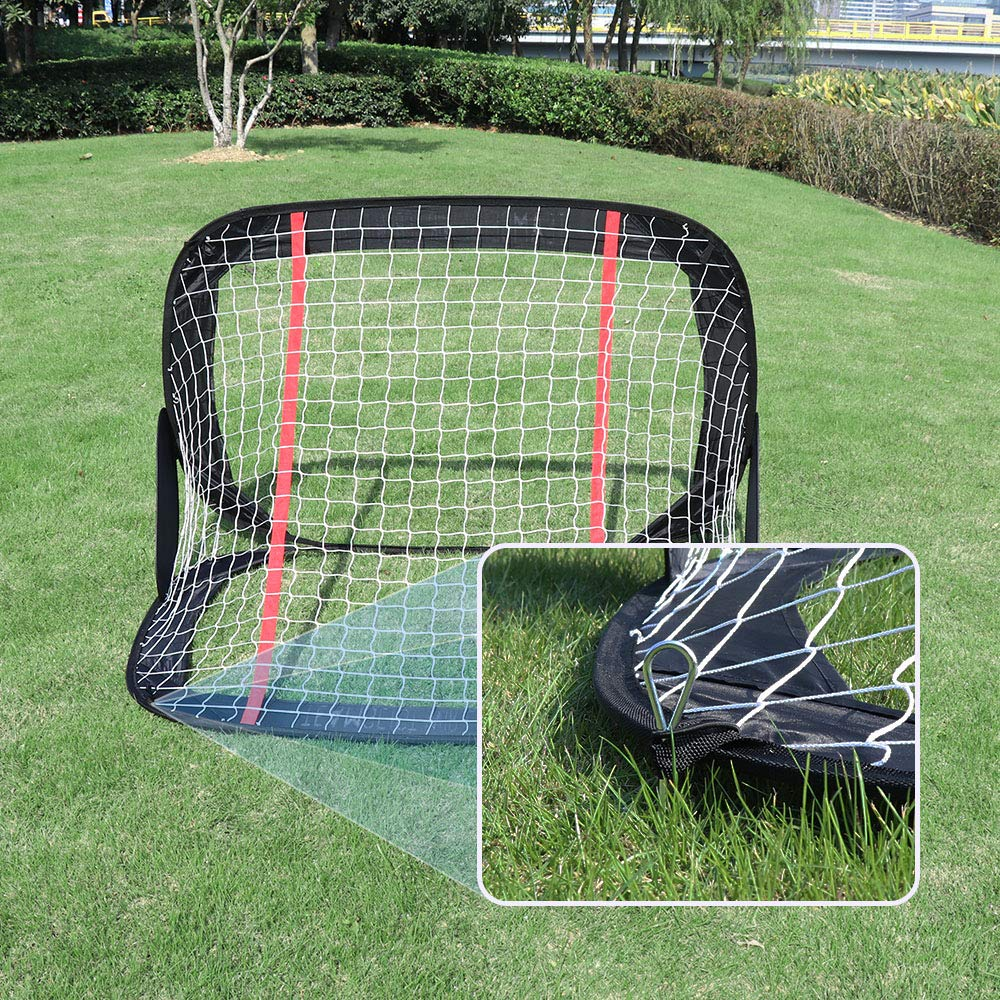 WisHome 4FT Foldable Children Pop-Up Play Goal for Outdoors Portable Square Soccer Goal with Carrying Bag Practice Training Sports Gift Idea for Kids(L05) by WisHome (Image #5)