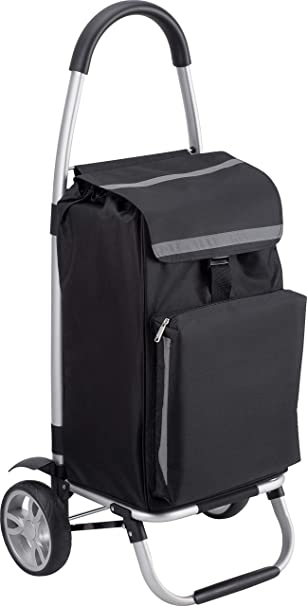 Carrito de la compra carrito plegable colgador para el carro de la compra con compartimento refrigerador 54 L bolsa extra/íble y resistente a la lluvia Meister 6816800