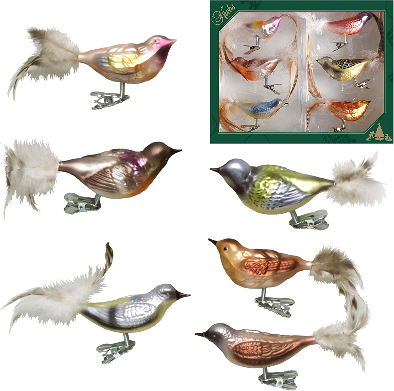 De Noël Bijoux Lauscha oiseau verre