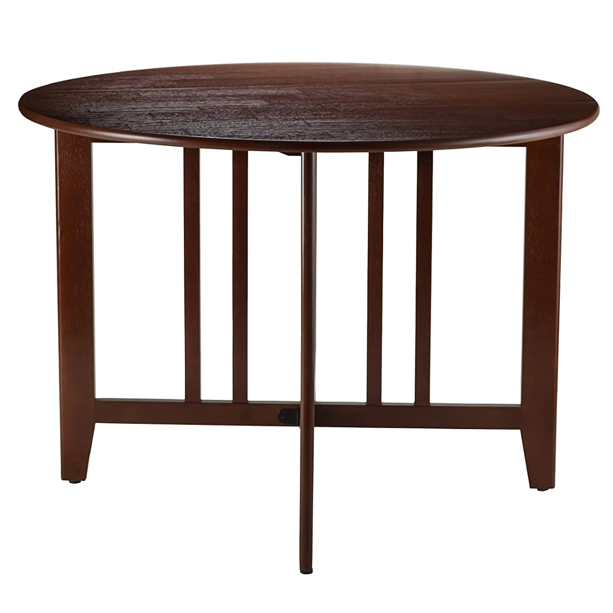 Winsome Wood Alamo Double Drop Leaf Round Table Mission, 42-Inch