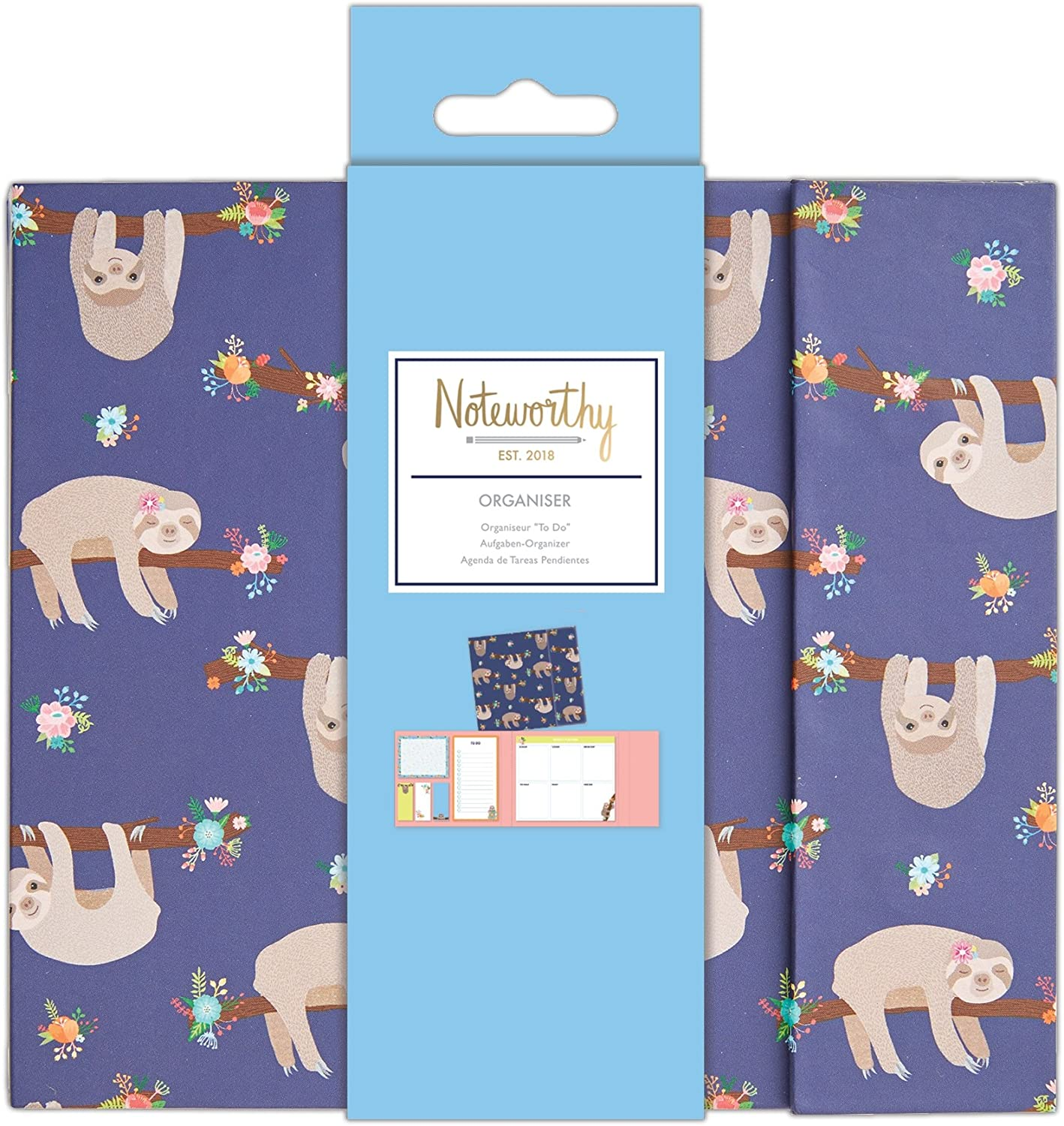 Noteworthy It/'s A Sloths Life Decorative Tape 4x5m - Its Stationery