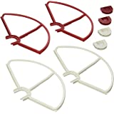 SummitLink Snap On/Off Prop Guards 2X Red 2X White for DJI Phantom 1 2 3 Quick Connect Tool Free Also Fit on Phantom 3…