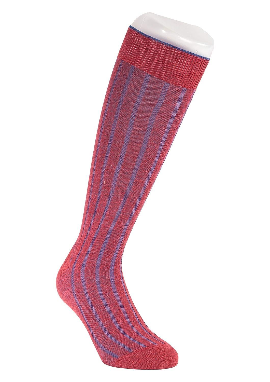Gallo Calzini righe verticali rossi e blu in Cotone e Lycra - taglia L/XL