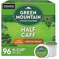 Green Mountain Coffee Roasters Half Caff, Single-Serve Keurig K-Cup Pods, Medium Roast Coffee, 96 Count