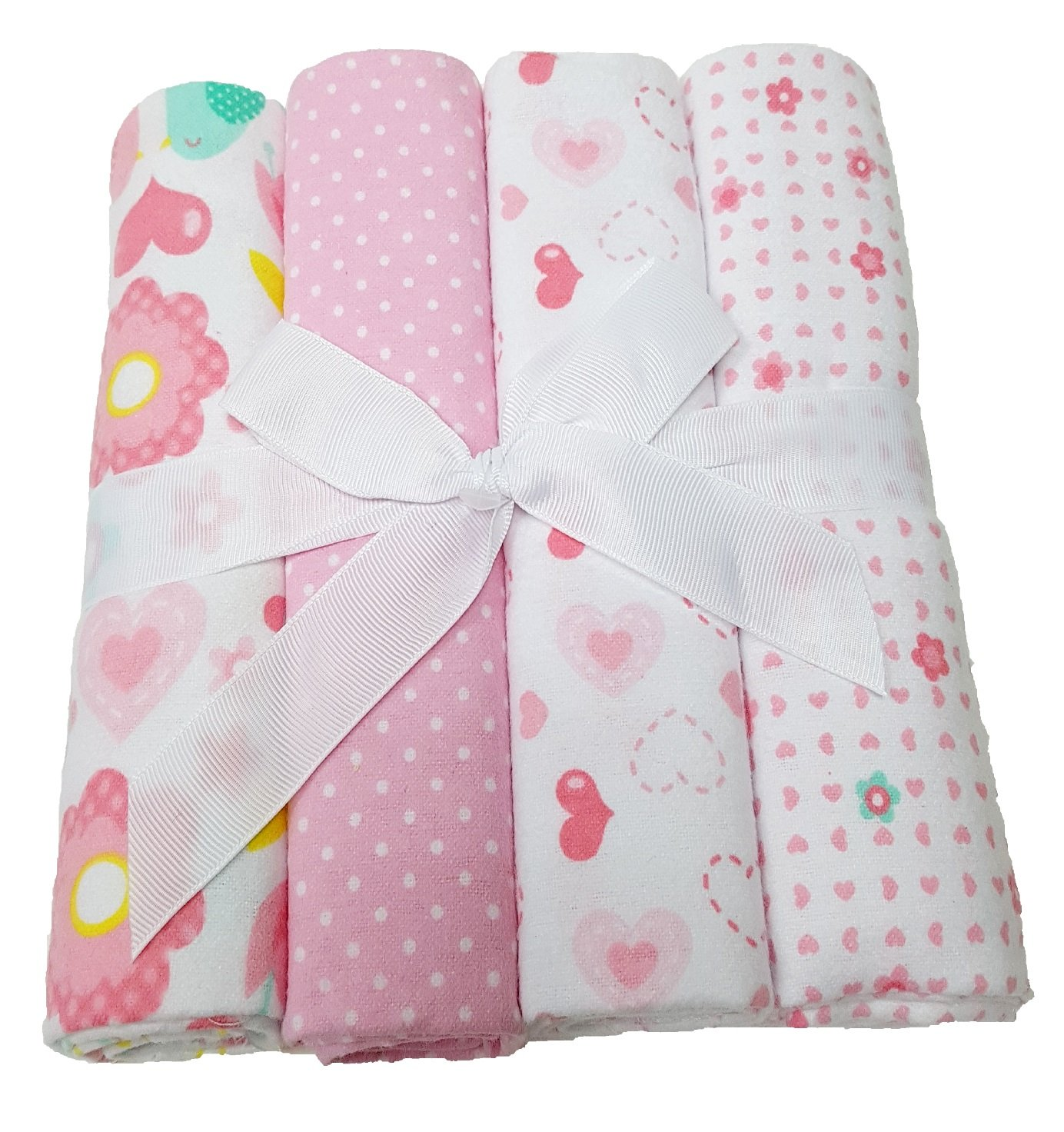 Pink Baby Moltontuch Spuckt/ücher 4er Hochwertiges Gr/ö/ße 76x76 cm 100/% Baumwolle