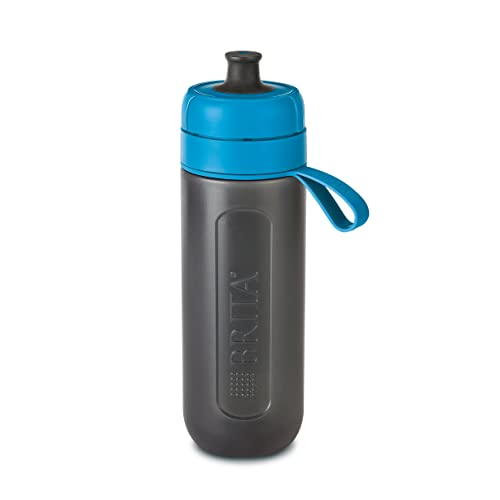 BRITA Fill and Go Active Sports Water Filter Bottle BPA Free Includes 1 Microdisc Lasting 150 L, Blue, 600 ml