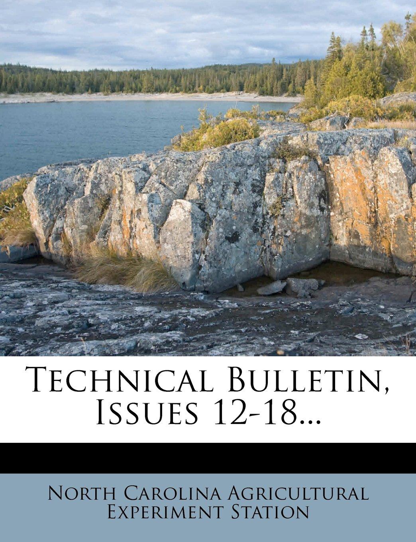 Download Technical Bulletin, Issues 12-18... pdf epub
