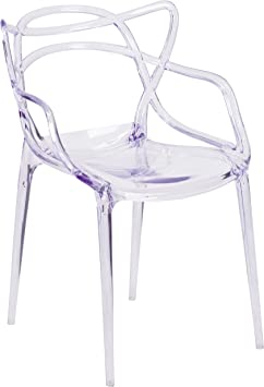 Amazon Com Flash Furniture Nesting Series Transparent Stacking Side Chair Furniture Decor