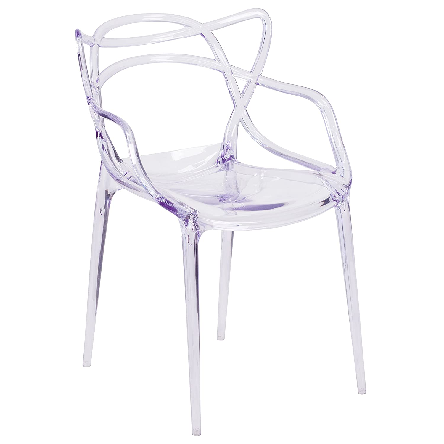 Flash Furniture 4 Pk. Nesting Series Transparent Stacking Side Chair