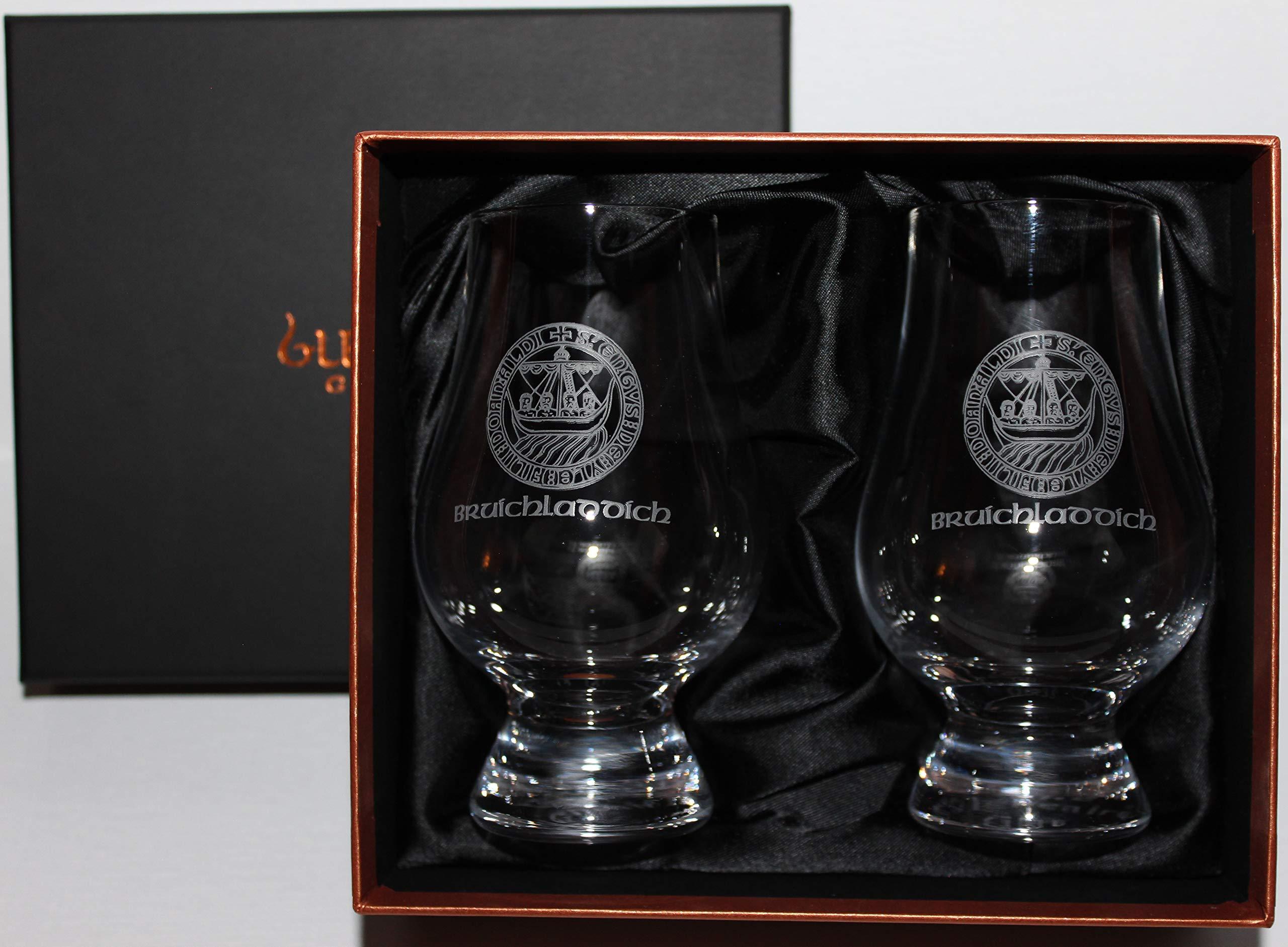 Bruichladdich Islay Crest Scotch Whisky Glencairn Two Glass Boxed Set