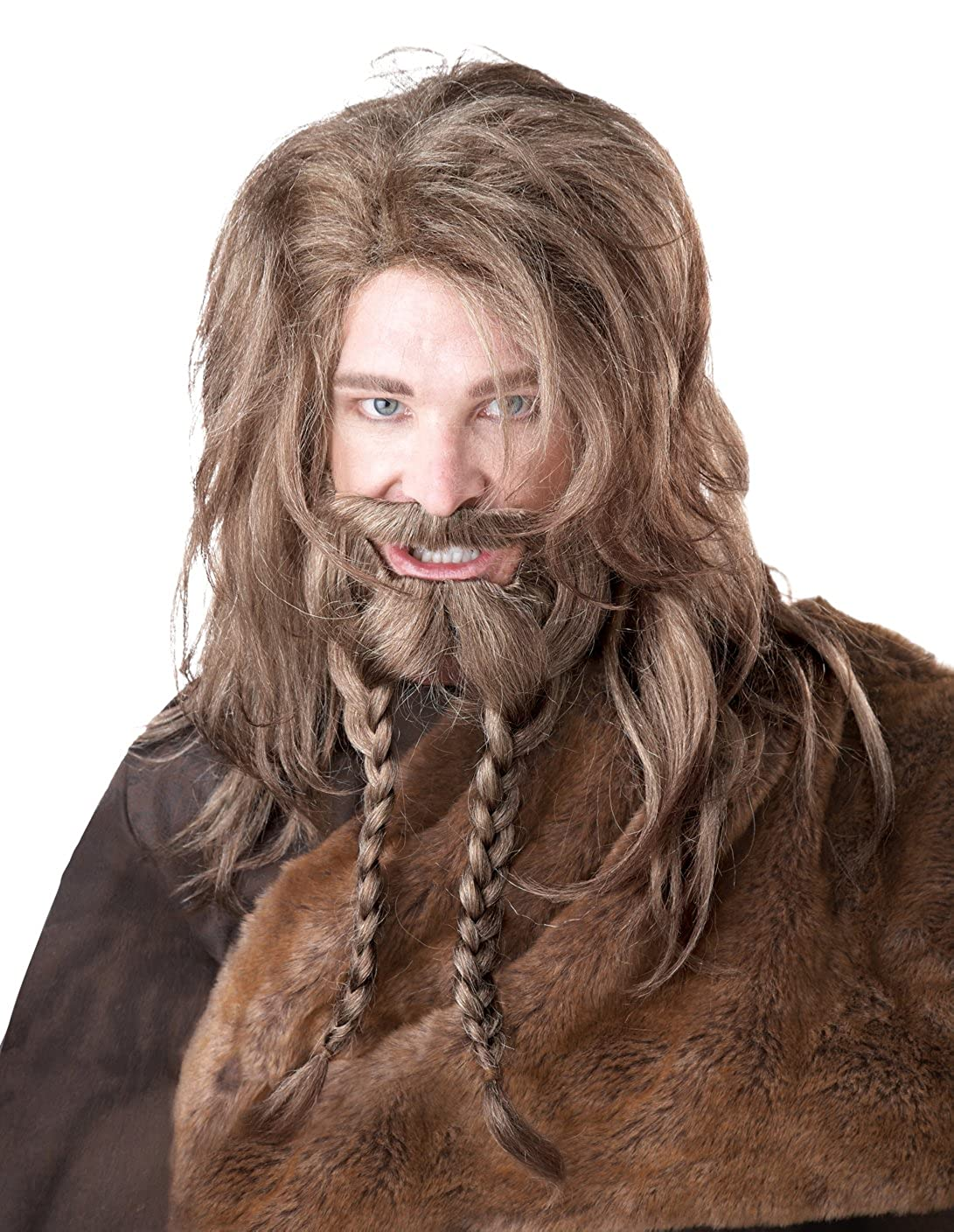 Amazon.com: California Costumes Womens Viking Wig Beard and Moustache, Brown, One Size: Clothing