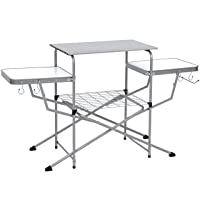 Deals on Portable Folding Grilling Table w/ Carrying Case