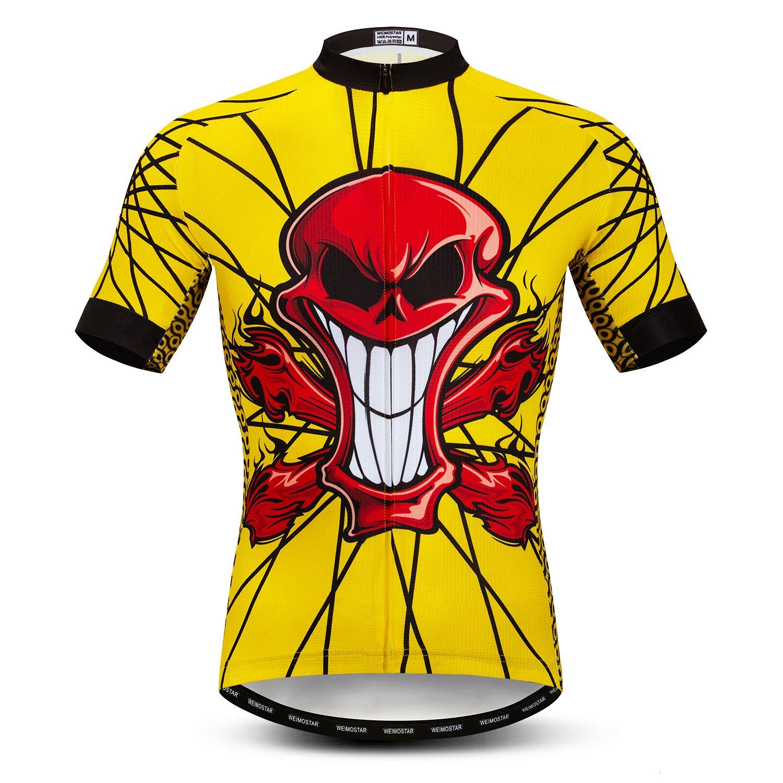 安価 Weimostar SHIRT B07FXPMS2D メンズ Skull Tag XXL=Chest 47\ Yellow Red Skull 47\ B07FXPMS2D, 厳選館:b74b1c8a --- construtoraalvorada.com.br