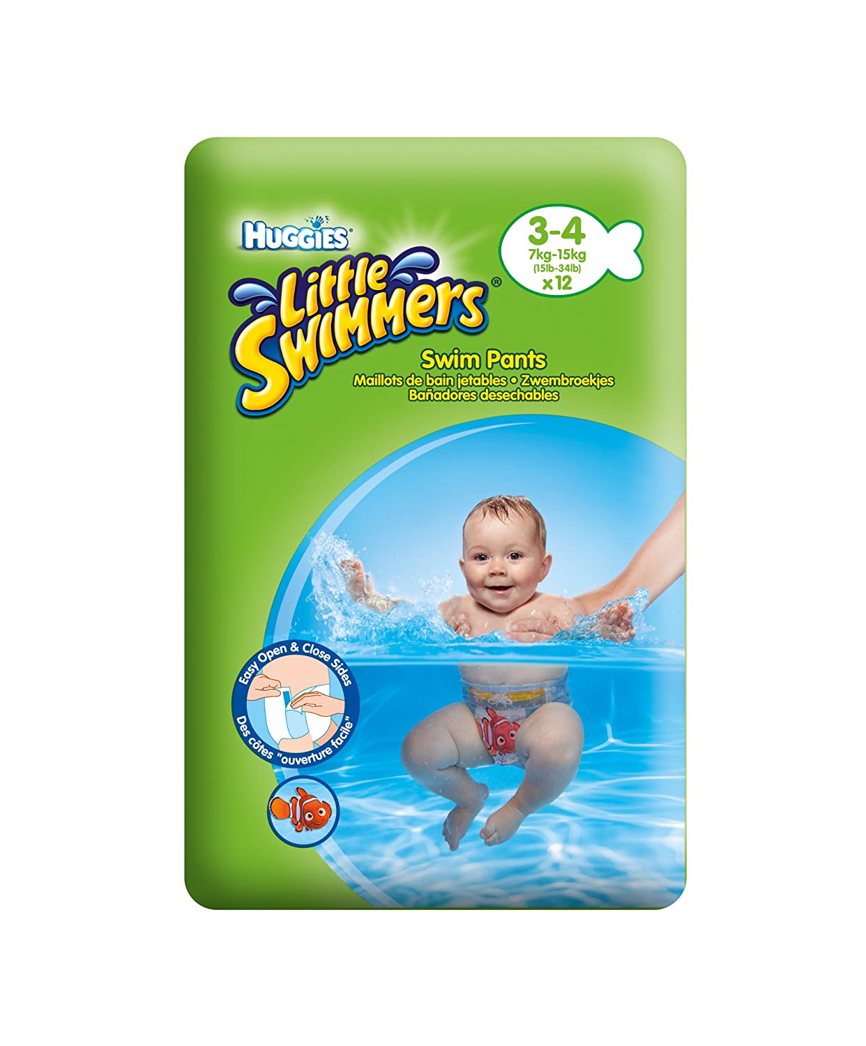 Huggies Little Swimmers Pants - Size 3-4, 3 x Packs of 12 (36 Pants) Kimberly-Clark 153499
