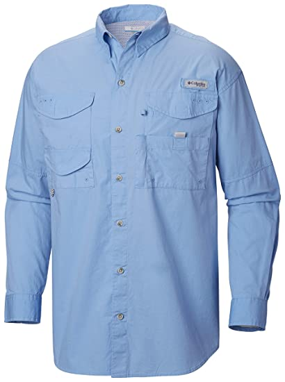 586788d0 Columbia Men's PFG Bonehead II Long Sleeve Shirt, Cotton, Relaxed Fit
