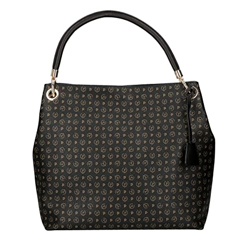 Pollini Heritage shopping bag Tapiro Pvc calf leither black