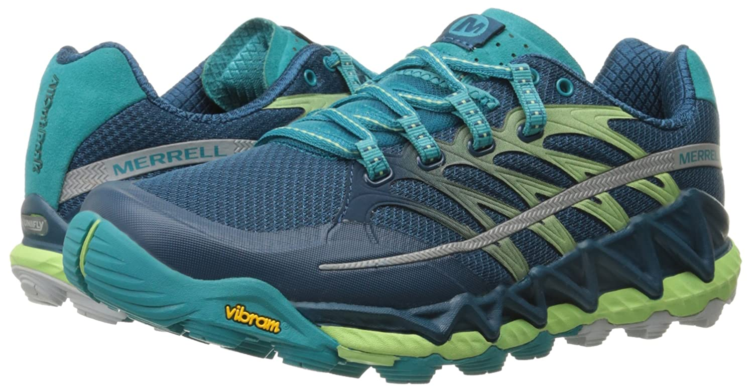Merrell Women's All Out Peak Trail Running Shoe B00YBE9HFK 9.5 B(M) US|Light Green