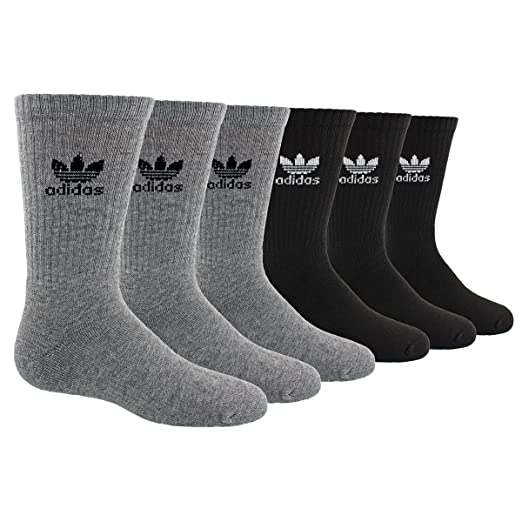 c460e486f5 adidas Originals Kid's - Boys/Girls Trefoil Crew Socks (6-Pair)