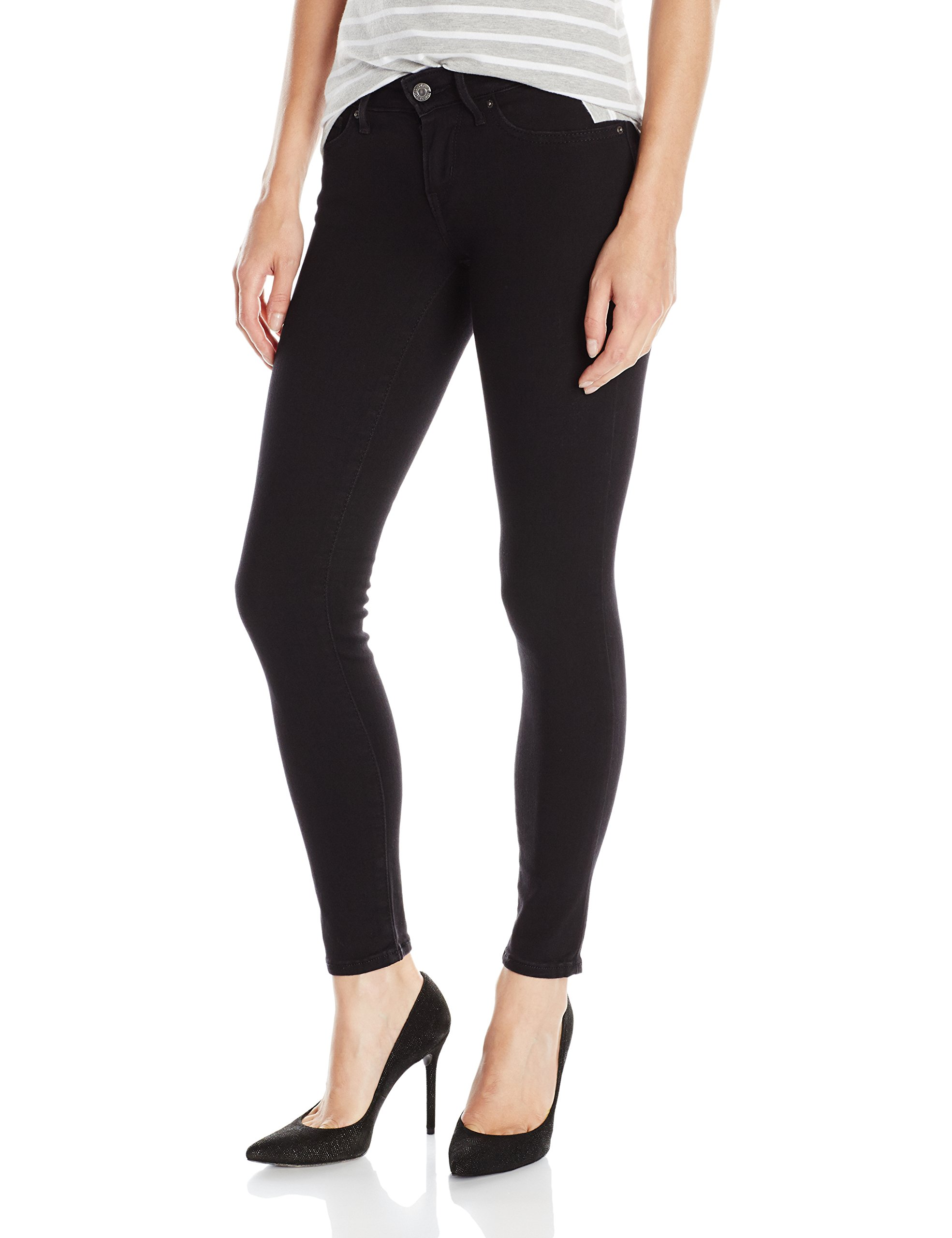 Levi's Women's 711 Skinny Jeans,Soft Black,30Wx32L
