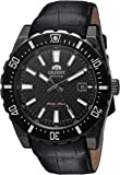 Orient Men's ' Nami Japanese Automatic Stainless Steel and Leather Diving Watch