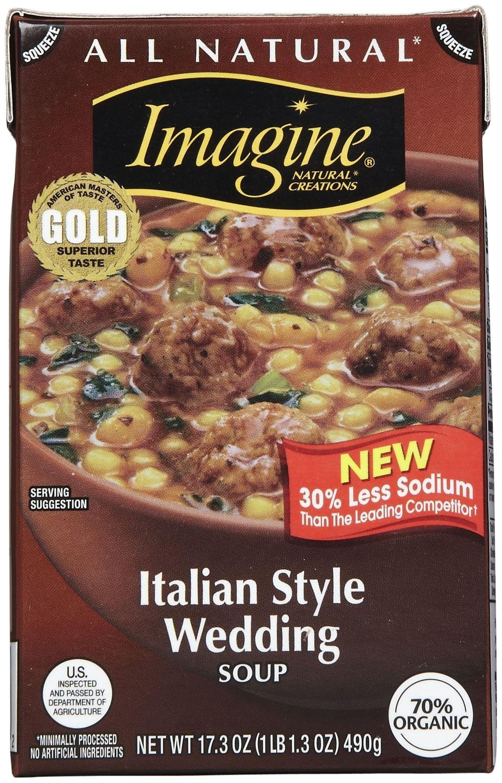 Imagine Organic Italian Style Wedding Soup - 17.3 oz by Imagine Foods