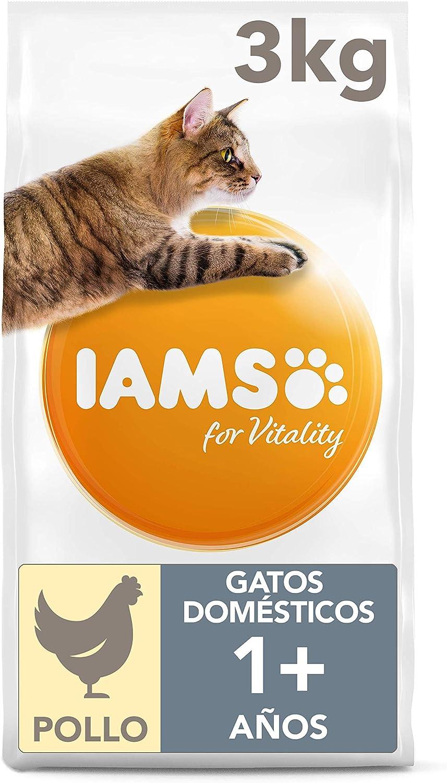 IAMS for Vitality Alimento para Gato de Interior con Pollo Fresco, 3 kg