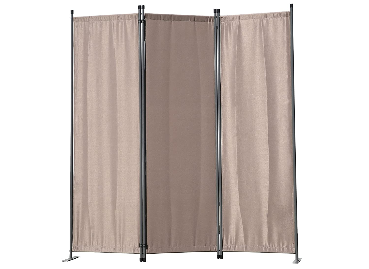 Angel Living Protective Screens Room Divider Screen Panel Folding Room Partition Wall Furniture Outdoor Screens for Patio Privacy (3-piece 169x165cm, Chocolate)