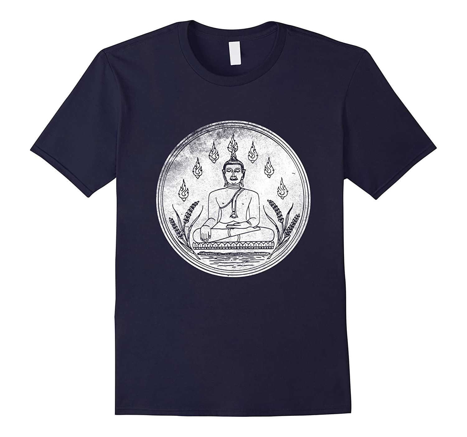 Buddha Shirt Love Yoga Lotus Flower Mediation Buddhism Tee-BN