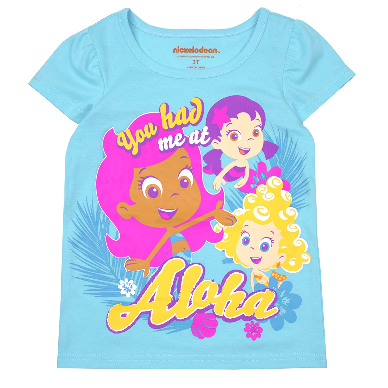 d1882caee7 Amazon.com  Bubble Guppies Nickelodeon Toddler Girls  Short Sleeve T-Shirt  (Pack of 3)  Clothing