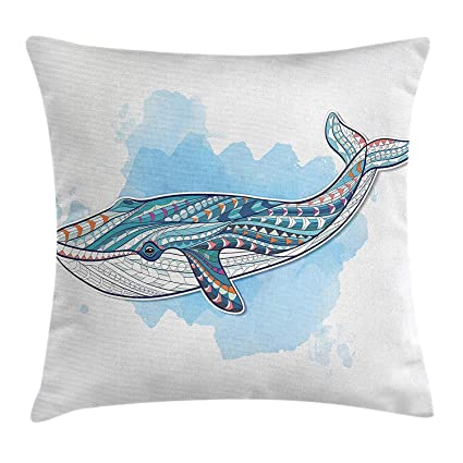 4a76efbfacc3 Amazon.com  GOEUME Whale Throw Pillow Cushion Cover