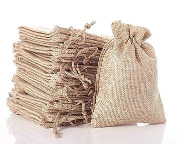 QILICZ: 50 bolsas de yute para calendario de adviento, joyas ...