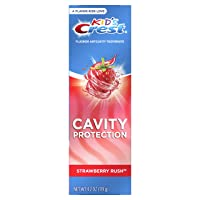 Crest Kid's Cavity Protection Fluoride Toothpaste, Strawberry Rush, 4.2 oz